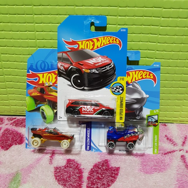 Hot Wheels 2018 Set of 3,  NGK Honda Odessey