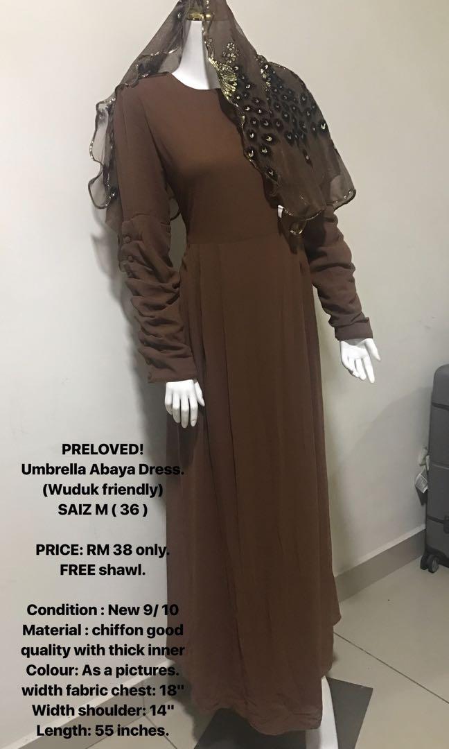 Jubah Umbrella Dress. ( wudhuk friendly