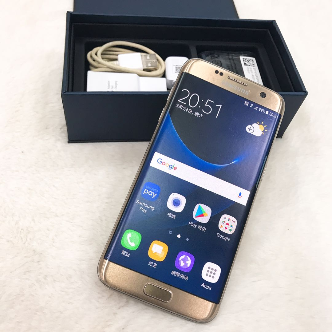Kaohsiung meet Samsung S7 edge 32GB gold all completely and a screen protector