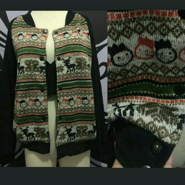 Korean sweater jacket hitam