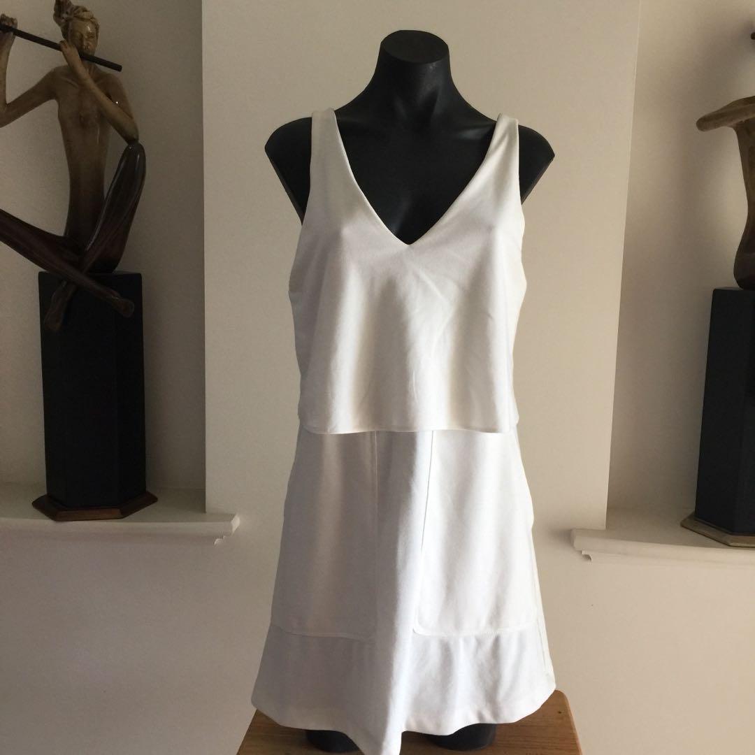 (L) ZARA WHITE DRESS