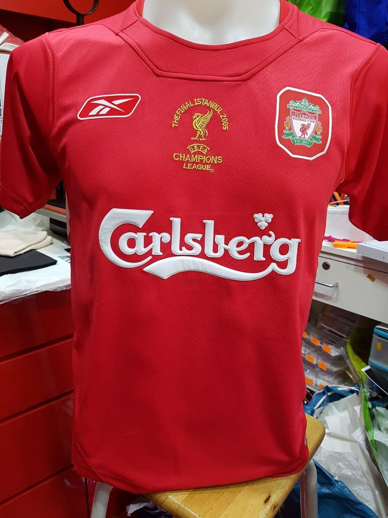 release date: 9f6a9 8a077 LIVERPOOL 2005 ISTANBUL CHAMPION LEAGUE KIT REPRO