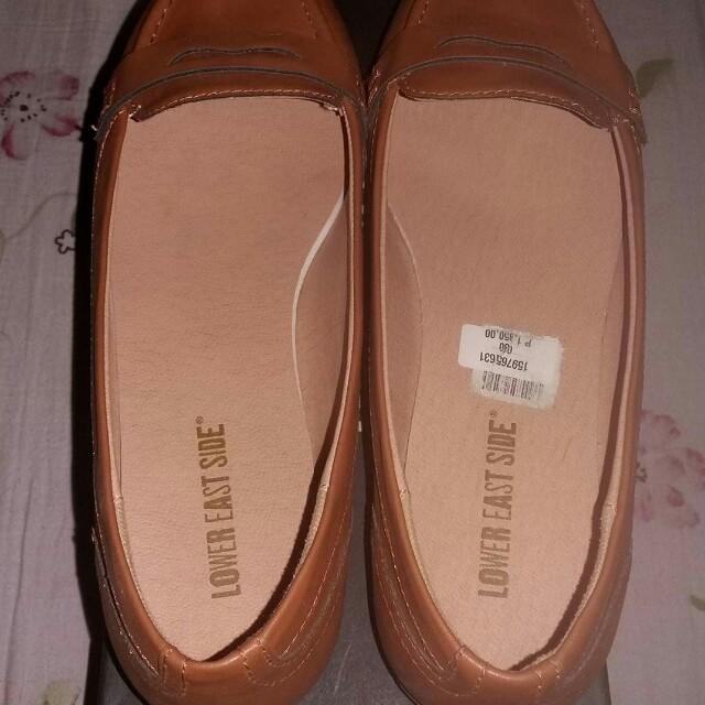Lower East Side Cognac Brown Flat shoes