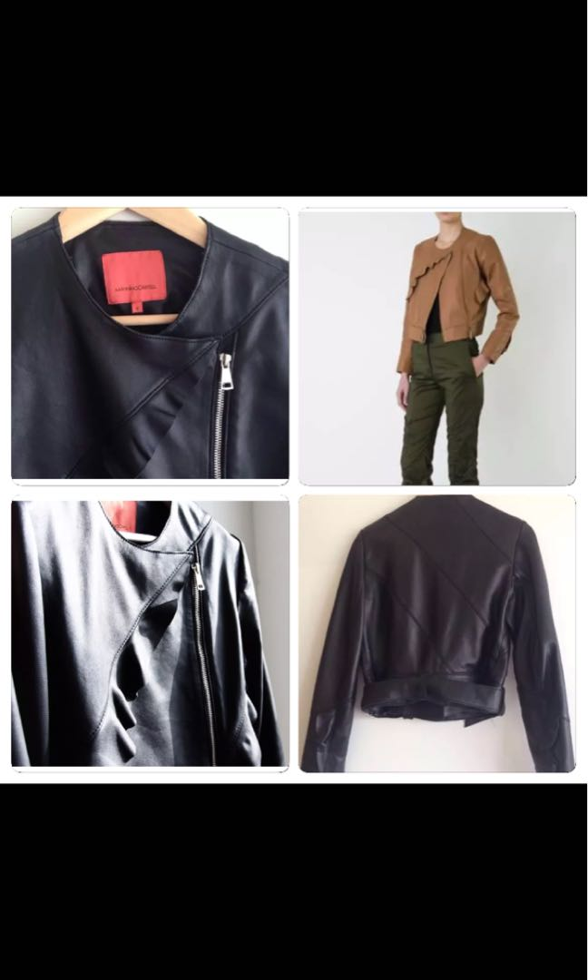 Manning Cartell leather drill detailJacket