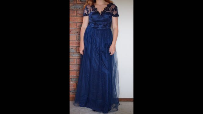Navy Formal Dress Chi Chi Lace