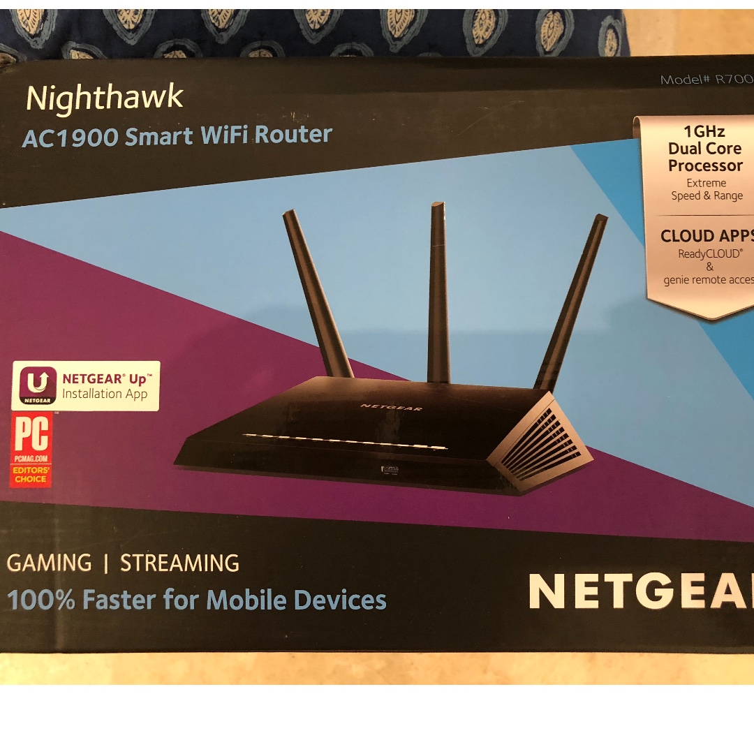 NETGEAR Nighthawk AC1900 Smart Wifi Router, Electronics, Computer ...