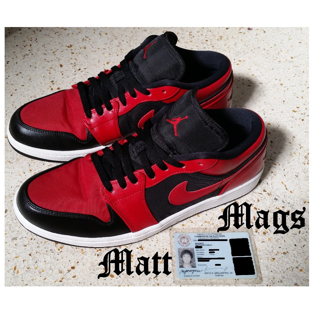 Nike Air Jordan 1 Low Black Gym Red White from USA e5303c5464
