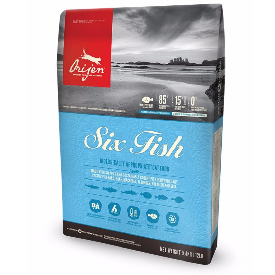 Orijen 5.4kg貓糧無穀物六種魚肉專用配方
