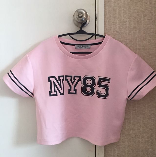 Pink Crop Top by Cache Cache