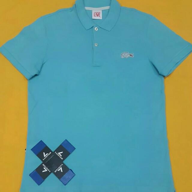 Polo Shirt Lacoste Live Big Logo Kaos Lacoste Men S Fashion