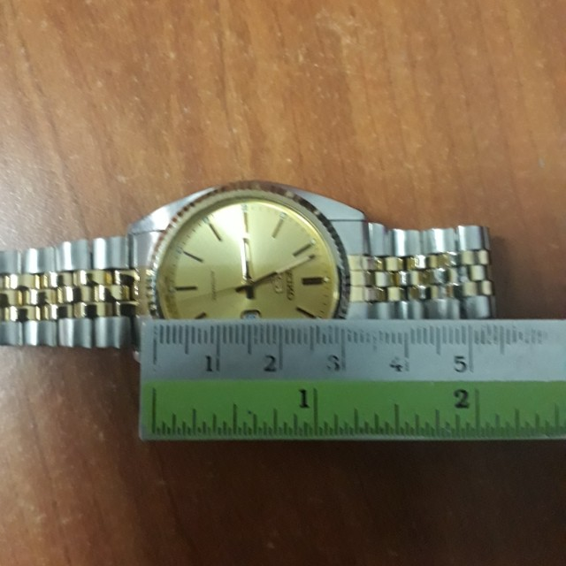 SEIKO   golden  Automatic   watch  now  with  very  unique genuine  gold plated  chain  worth $138 free   2 in one price  only
