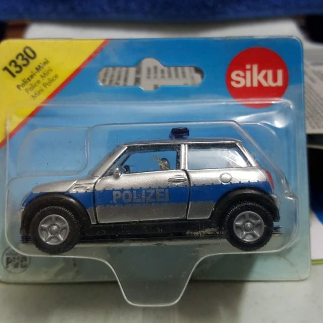 Siku Mini Cooper Morris Police Scale 164 Not Hotwheels Rubber