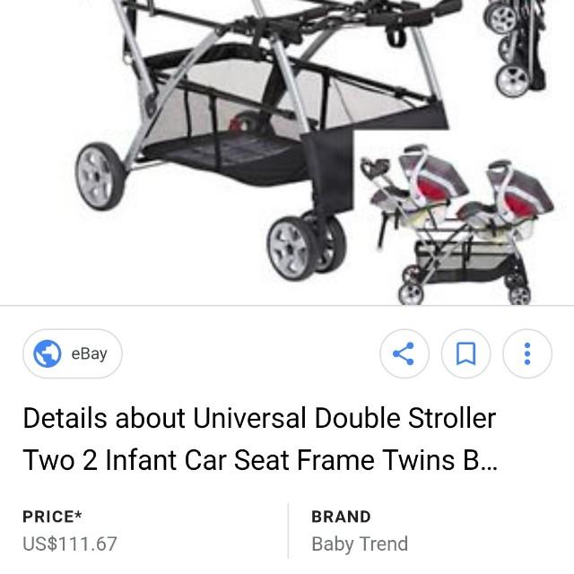 Snap N Go Double Stroller Frame
