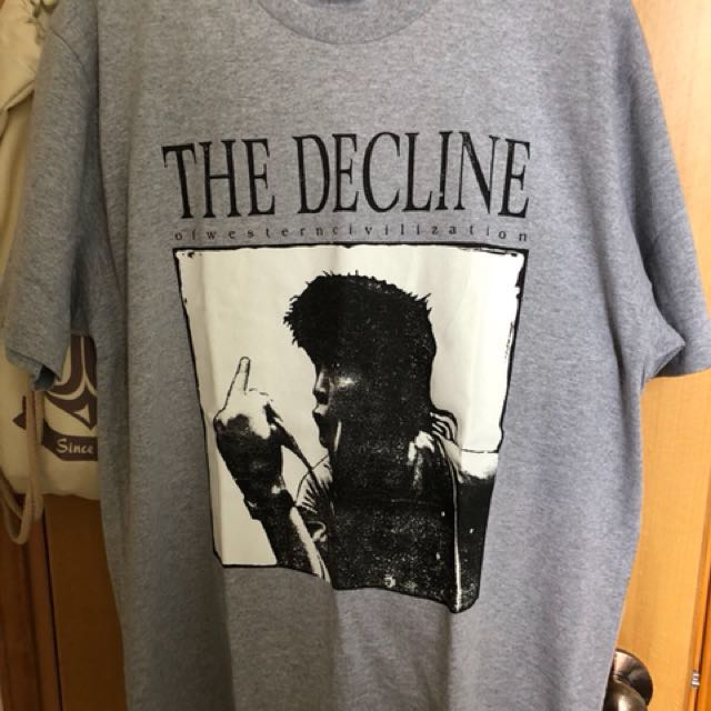 0f450af5 Supreme Decline of Western Civilization Tee (後面有Supreme字), Men's Fashion,  Men's Tops on Carousell