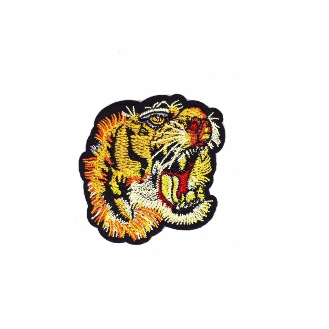 a7bec56494f4e4 Tiger Head Gucci Style Iron on Patch, Design & Craft, Craft Supplies &  Tools on Carousell