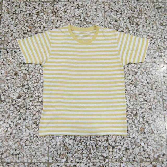 d46bbb5d62 Uniqlo Yellow White Stripe Tee, Men's Fashion, Clothes on Carousell