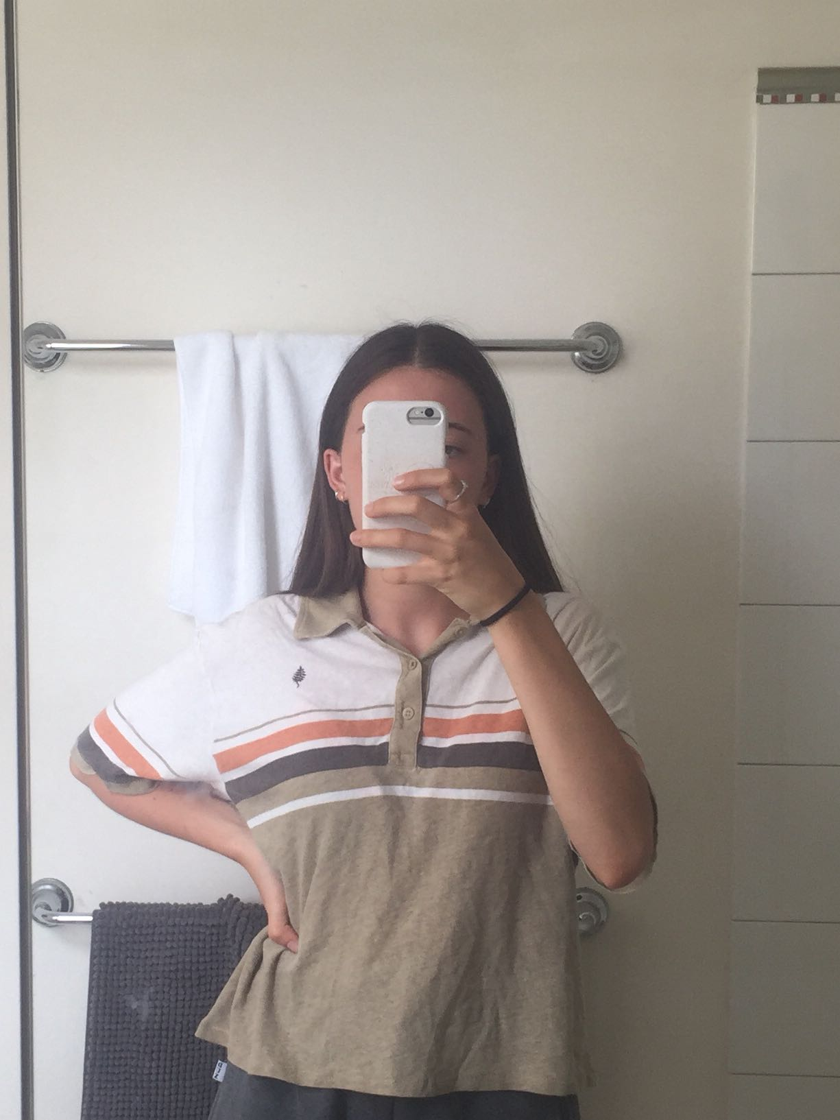 Vintage cropped polo shirt