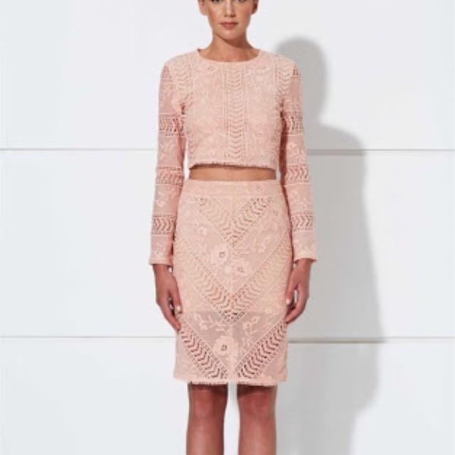 WINONA Paris Pink Lace Skirt