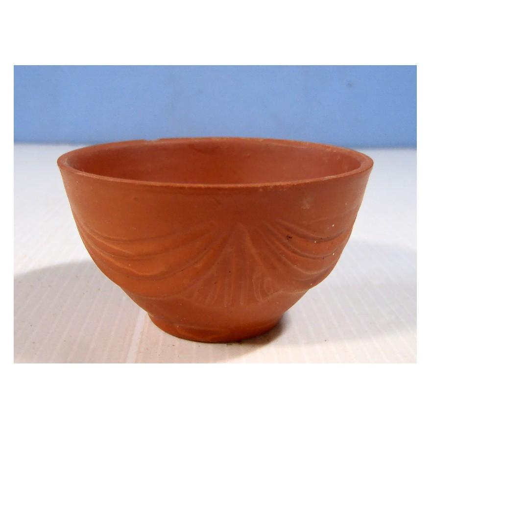 Yixing zisha shohin bonsai pot carving