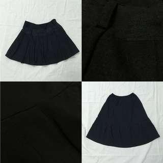 韓版韓風氣質優雅休閒風經典黑色百褶裙