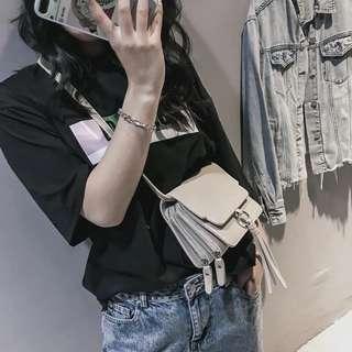 韓版 迷你小流蘇雙夾層側背包 斜背包 肩背包 預購