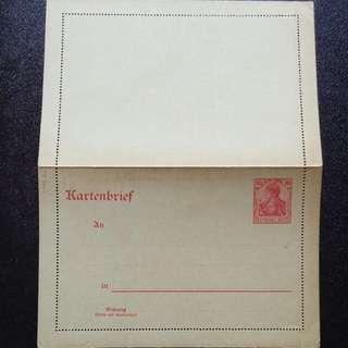 [lapyip1230] 德意志帝國郵資信卡(帶全張水印) 1900年 日耳曼尼亞女神 新品