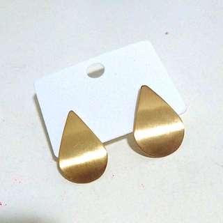 免運🕊水滴金色質感耳環