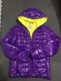 亮紫鋪棉外套