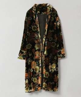 (分享)collectpoint JEANASIS 日系Vintage 花卉 絨布 開襟外套 oldscool