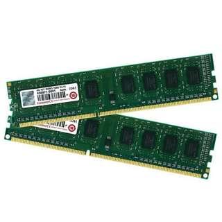 創見 Transcend 4GB DDR3 -1600 單面顆粒 、終身保固 、測試良好的庫存備品、單支價錢 $830
