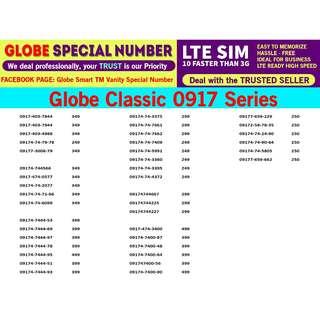 Globe Sim LTE Vanity phone Number  0917