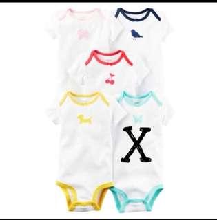 *3M* Brand New Carter's 5-Pack Short Sleeve Bodysuits For Baby Girl