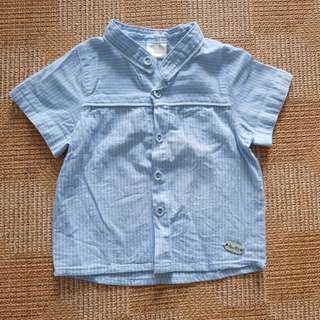 Boy blue shirt