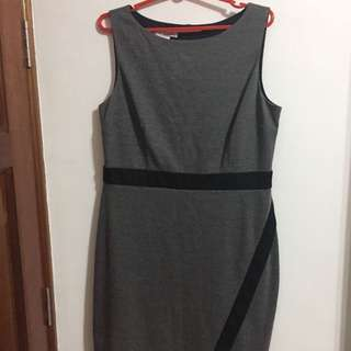 Dress Office Work Dinner Formal Casual size 14 Grey