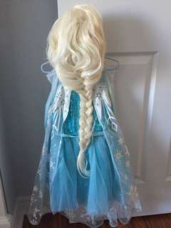 Elsa costume and wig