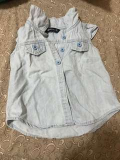 baby Top (denim type)6-9mos
