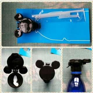 Mickey Mouse Bottle Cap & Straw Set