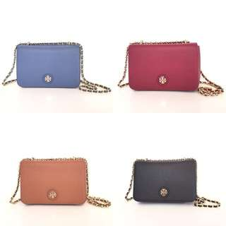 Tory burch whipstich logo (adjustable chain)