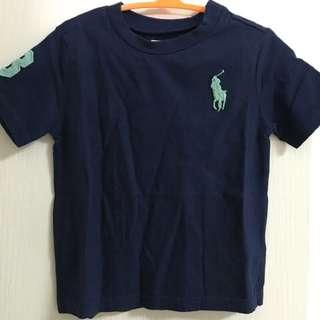 ✨全新正品 Ralph Lauren 藍色 logo 短袖棉T 上衣 童裝