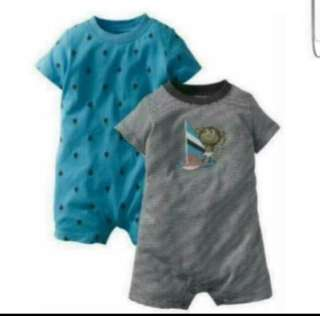 *6M* Brand new Carter's Nautical 2 Pack Romper set for baby boy