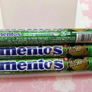 Limited Japan Matcha Mentos Permen (3roll)