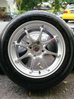 Ce28 15 inch sports rim alza rim baru tyre 80%. Gali tanah tanam pisang, brother ini rim confirm bikin you girang!!!