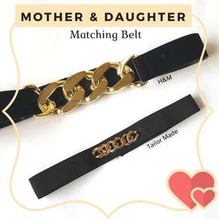 Mother & Daughter Matching Belt