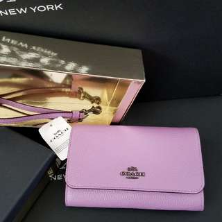 COACH Boxed Clutch in Polished Pebble Leather  Style No: 16115B