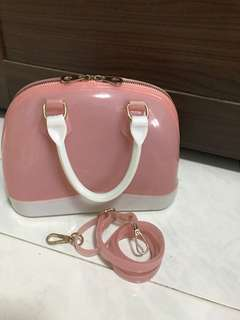 Children Girl jelly bag with strap and handle