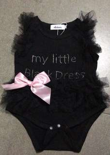 Baby Girl Black Lace Romper