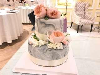 Wedding cake 訂做大理石紋蛋糕