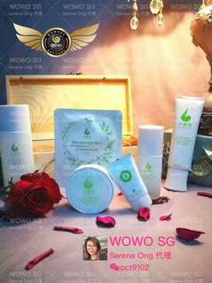 Wowo Tea Polyphenols Skin Care Series - Cleaner/Toner/Serum