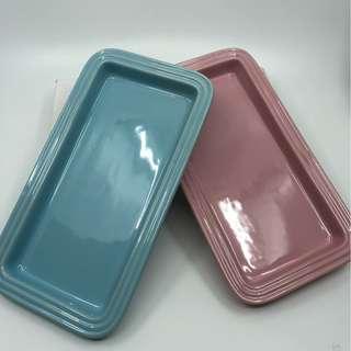 SPECIAL!!Le Creuset Rectangular plate (pink / blue)粉紅色/粉藍色長方形碟