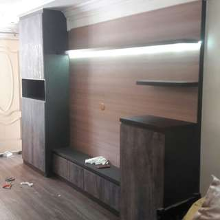 🔨Cabinet Tv feature wall🛠